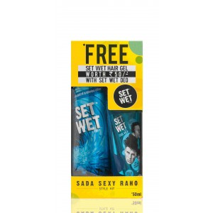 Buy Set Wet Style Cool Deodorant Spray + Free Style Cool Hold Gel - Nykaa