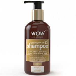 Buy WOW Organics Hair Strengthening Shampoo Free Paraben Sulphate - Nykaa