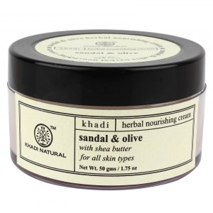 Buy Khadi Natural Sandal & Olive Herbal Nourishing Cream With Shea Butter - Nykaa