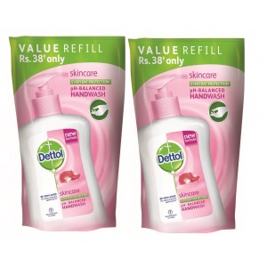 Buy Dettol Liquid Soap Skincare Refill Pouch (Pack Of 2) With Rs.15 Off - Nykaa