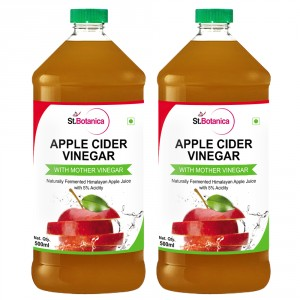 Buy Herbal St.Botanica Apple Cider Vinegar - 500ml x 2 - Nykaa