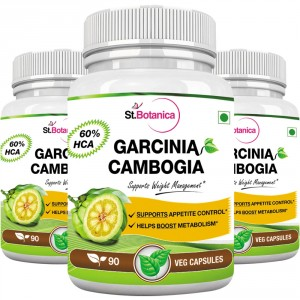 Buy St.Botanica Garcinia Cambogia Extract 500mg (90 Veg Caps) (Pack Of 3) - Nykaa