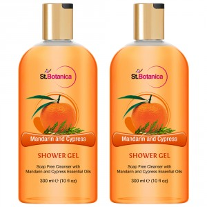 Buy St.Botanica Mandarin & Cypress Luxury Shower Gel (Pack of 2) - Nykaa