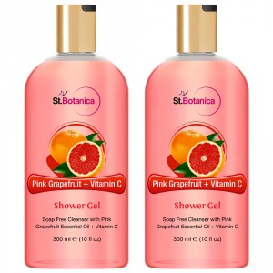 Buy St.Botanica Pink Grapefruit & Vitamin C Luxury Shower Gel (Pack of 2) - Nykaa