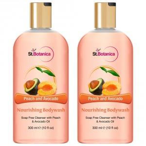 Buy St.Botanica Peach and Avocado Nourishing Luxury Body Wash (Pack of 2) - Nykaa