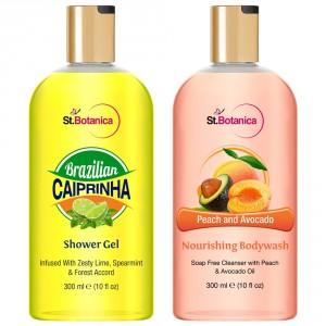 Buy St.Botanica Brazilian Caiprinha Shower Gel + Peach and Avocado Nourishing Body Wash - Nykaa