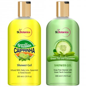 Buy St.Botanica Brazilian Caiprinha + Green Tea And Cucumber Luxury Shower Gel - Nykaa