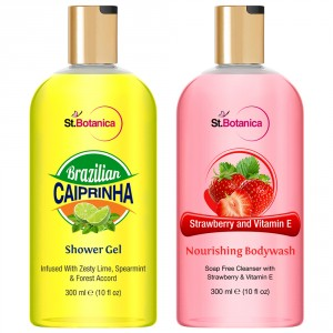 Buy St.Botanica Brazilian Caiprinha Shower Gel + Strawberry And Vitamin E Nourishing Luxury Body Wash - Nykaa