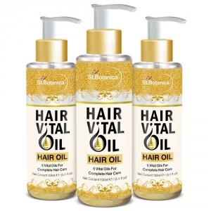 Buy St.Botanica Hair Vital Oil (With Olive, Castor, Almond, Jojoba, Rosemary, Tea Tree) x3 Bottles - Nykaa