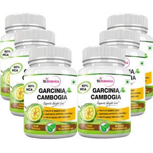 Buy Herbal St.Botanica Garcinia Cambogia - 60% HCA 800mg Tablets - 90 Count - Pack of 6 - Nykaa