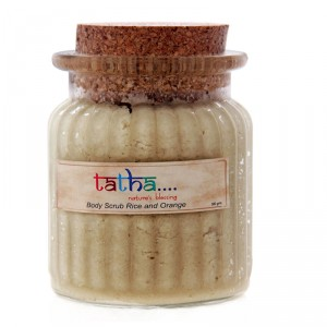 Buy Tatha Nature's Blessing Body Scrub Rice And Orange - Nykaa