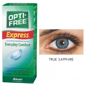 Buy Freshlook 30 Day Lens True Sapphire + Free 120ml Lens Solution - Nykaa