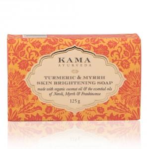 Buy Kama Ayurveda Turmeric & Myrrh Skin Brightening Soap - Nykaa