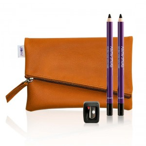 Buy Plum Natur Studio All - Day - Wear Kohl Kajal Twin Pack + Flip -Tip Sharpener + Classic Tan Clutch Pouch Combo - Nykaa