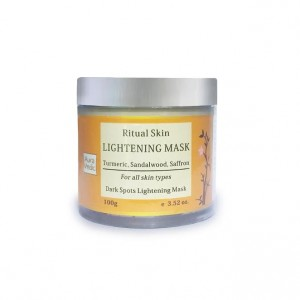 Buy AuraVedic Ritual Skin Lightening Mask with Sandal Saffron Turmeric - Nykaa