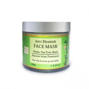 Buy AuraVedic Anti Blemish Face Mask with Neem Tea Tree Basil - Nykaa