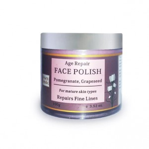 Buy Herbal AuraVedic Age Repair Face Polish with Pomegranate Grapeseed - Nykaa