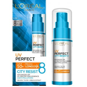 Buy L'Oreal Paris UV Perfect City Resist 8 SPF 50+ | PA++++ - Nykaa