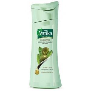 Buy Herbal Dabur Vatika Oil Balance Smoothing Treatment Shampoo - Nykaa