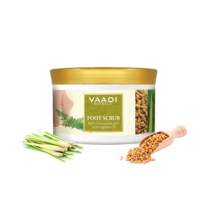 Buy Vaadi Herbals Foot Scrub With Fenugreek & Lemongrass Oil - Nykaa