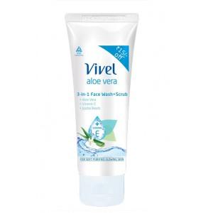 Buy Vivel Aloe Vera 3-In-1 Face Wash - Nykaa