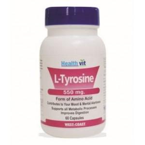 Buy HealthVit L-Tyrosine 550 Mg 60 Capsules - Nykaa