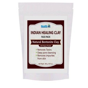 Buy HealthVit Indian Healing Clay Bentonite Clay With Pappaya Powder - Nykaa
