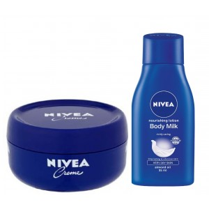 Buy Nivea Creme + Free Nourishing Body Milk  - Nykaa