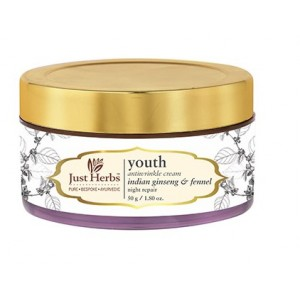 Buy Just Herbs Youth Age-Defying Anti-Wrinkle Cream (Night Repair) - Nykaa