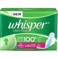 Whisper Ultra Sanitary Pads Xtra Large Wings Size 7 pc Pack