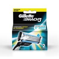 Gillette Mach 3 Manual Shaving Razor Blades Cartridge - 2s Pack