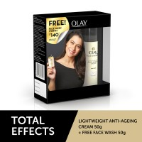 Olay Total Effect 7 In One Light Weight Anti-Ageing Cream + Free  Anti-Ageing Foaming Face Wash(Worth Rs.140)
