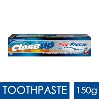 Closeup Fire Freeze Toothpaste