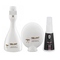 BBLUNT Perfect Balance Shampoo + Conditioner + Mini Climate Control, Anti-Frizz Leave In Cream