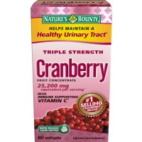 Nature's Bounty Triple Strength Natural Cranberry with Vitamin C