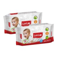 LuvLap Paraben Free Baby Wet Wipes (Pack of 2)