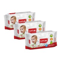 LuvLap Paraben Free Baby Wet Wipes (Pack of 3)