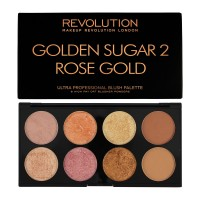 Makeup Revolution Golden Sugar 2 Rose Gold Ultra Professional Blush Palette