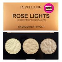 Makeup Revolution Rose Lights 3 Highlighter Powder