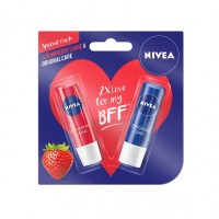 Nivea Strawberry Lip Care + Free Original Lip Care