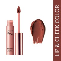 Lakme 9 to 5 Weightless Matte Mousse Lip & Cheek Color - Burgundy Lush
