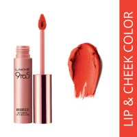 Lakme 9 to 5 Weightless Matte Mousse Lip & Cheek Color - Tangerine Fluff