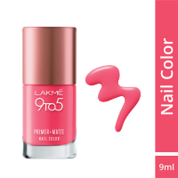 Lakme 9 to 5 Primer + Matte Nail Color - Rosy