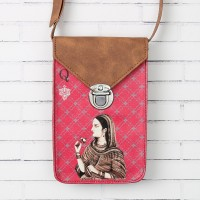 India Circus Mughal Queen Playing Card Small Sling Bag