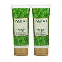 Vaadi Harble Value Pack of 2 Anti-Acne Neem Face Pack with Clove & Turmeric