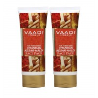 Vaadi Herbals Value Pack of 2 Chandan Kesar Haldi Fairness Face Pack
