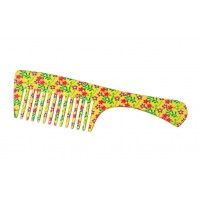 FeatherFeel Printed Yellow Daisy Handle Comb