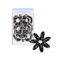 Invisibobble Nano Hair Ring - True Black - Pack of 3