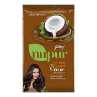 Godrej Nupur Coconut Henna Crème Hair Colour - Natural Brown