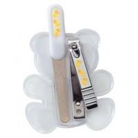 Basicare Baby Safe Sapphire Nail File & Nail Clipper Set